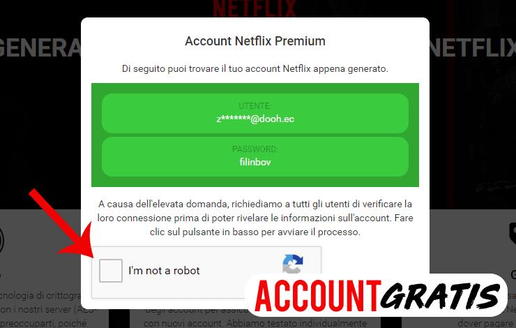 generatore account netflix gratis